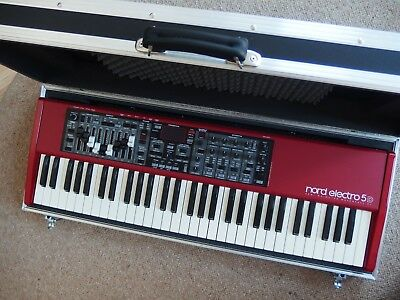 NORD Electro 5D 61 Tasten Stagepiano + Koffer * Stereo Keybord Synthesizer rot *