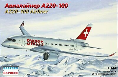 Eastern Express 1/144  Airliner AIRBUS A220-100  SWISS /  DELTA  EE144133