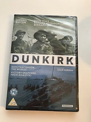 Dunkirk 2017 John Mills / Richard Attenborough - DVD - New & Sealed