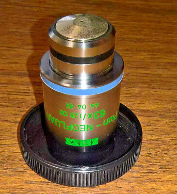 Zeiss Microscope Objective Plan Neofluar 63x Ph3 Oil lens 1.25 infinity 0.17