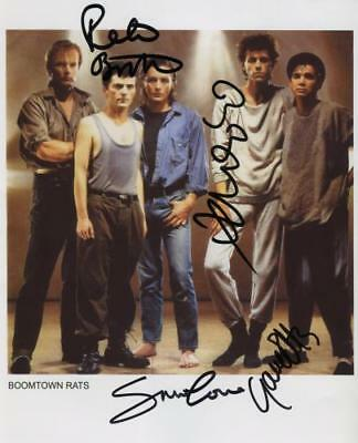 The Boomtown Rats Signed  Photo Genuine In Person Bob Geldof + Roberts + 2 + COA