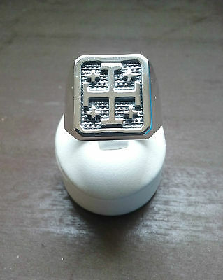 Jerusalem Cross  Ring Men Crusaders Cross Silver 925