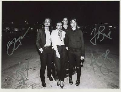 The Savages (Band) Jehnny Behr Fully Signed Photo Genuine In Person + COA
