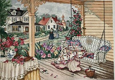 Completed Finished Cross Stitch, Paula Vaughan , Good Neighbors