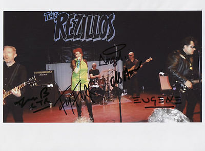 The Rezillos (U.K. Punk Band) Fully Signed Photo Genuine In Person Fay Fife COA