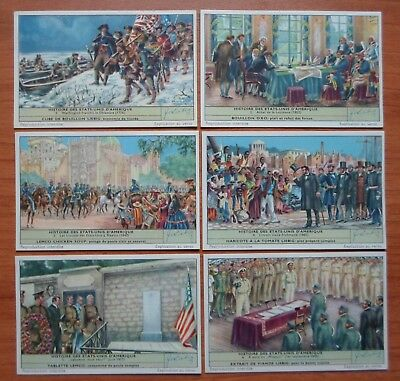 1956 set of 6 liebig trade cards S 1659 HISTORY OF UNITED STATES OF AMERICA USA