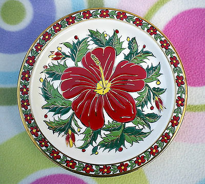 Vintage Hand Made Seva Greek Floral Wall Plate