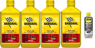 4 LT. motorcycle engine oil BARDAHL XTC C60 10W40 Synthetic IDEAL PER CHANGE