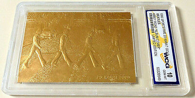 The BEATLES Abbey Road 23KT Gold Card Gem Mint 10