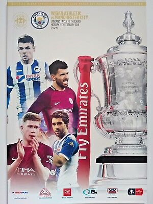 Wigan Athletic v Manchester City 19/2/2018 FA Cup 5th Round. MINT. VERY RARE.