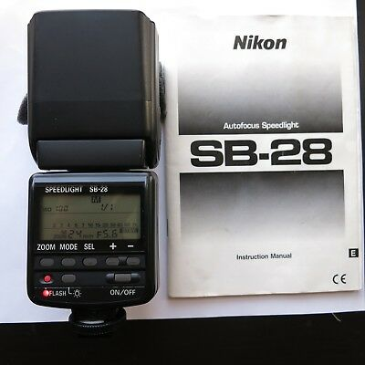 NIKON SB-28 AF SPEEDLIGHT FLASH FOR NIKON SLR CAMERAS w/CASE