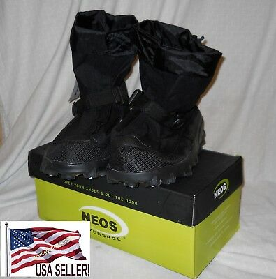 NEW NEOS Voyager NON Slip Waterproof ICE Overshoes VNS1 HEEL SZ M Black ICE FISH