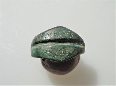 Late Roman Bronze Betrothal/Engagement/ Ring with Inscription.6th-8th C. AD.