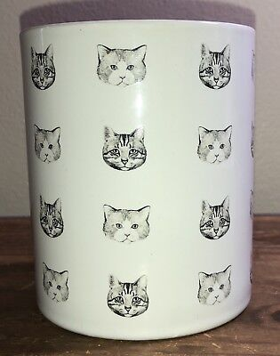 Chasing Lola Cat ceramic coffee mug  White/gray Cat Lady Cup
