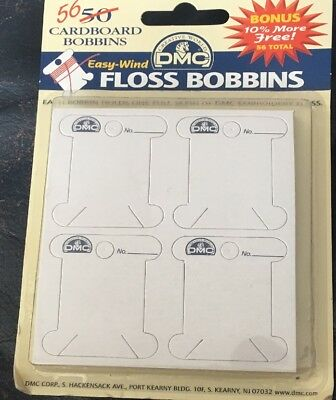 Cardboard Bobbin 56 DMC Floss Cross Stitch Needlepoint Sewing Notion