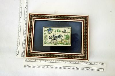 Antique Chinese plaque painting inlaid frame
