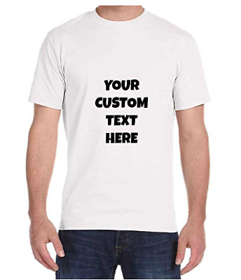 Personalized Customized Mens T-Shirt Gildan Tee S-XL Clearence Fast Shipping