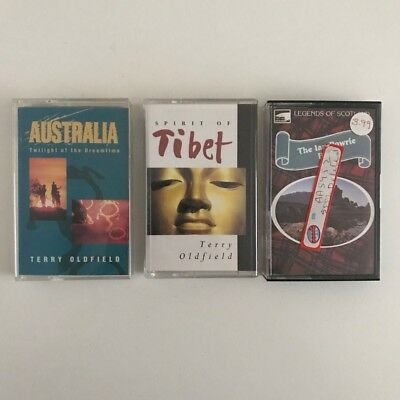 Job lot of 3 Vintage Music Cassette Tapes Terry Oldfield etc