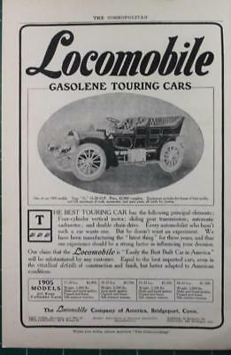 Vintage ads 1905 Locomobile & Oldsmobile  Automobiles 2 sided man cave