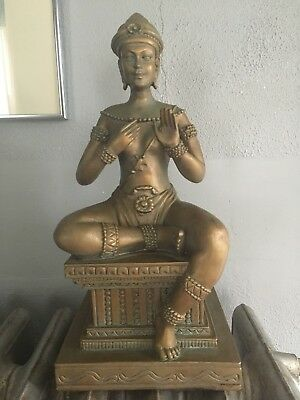 "East India Hindu Goddess Statue 14.5"" Shiva"