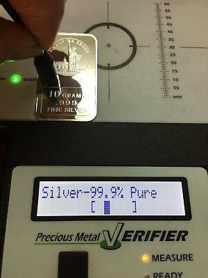 10 Grams .999 REAL Fine Silver Bar Art Bullion Statue Of Liberty
