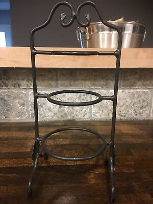 Vintage Longaberger Collectors Club Wrought Iron Miniature Mixing Bowl Stand