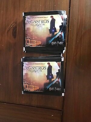 25 packs stickers Harry Potter Fantastic Beasts Panini Unopened