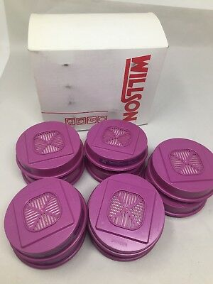 Lot Of (10) Dalloz Safety Willson P100 Round Filters Respirator Cartridges