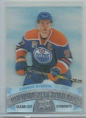 2017-18 Upper Deck Tim Hortons Clear Cut Phenoms #CCP1 Connor McDavid (ref44710)