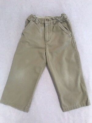 3T Toddler Boys Children's Place Khaki Pants Adjustable Waist No Stains