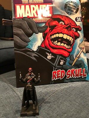 RED SKULL -- Eaglemoss Classic Marvel Lead Figurine w/ Mag and Box!
