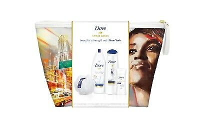 Dove Limited Edition 5pc Beautiful Cities Gift Set Choose New York or Paris Bag