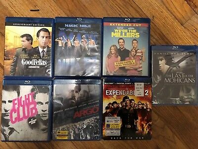 blu ray movies lot 7 Movies  Couple Movies Are New. Last Of The Mohicans Argo