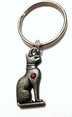 """Sacred Egyptian CAT Key Chain Ancient Cleopatra's """"Mau"""" US Seller FREE SHIPPING"""