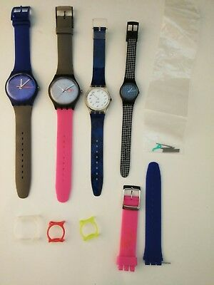 VINTAGE LOT OF 4 SWATCH WATCHES 80S 90S FASHION 80's 90's