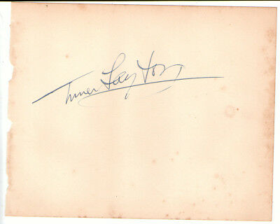 Turner Layton  American Songwriter And Singer Genuine Signed Album Page