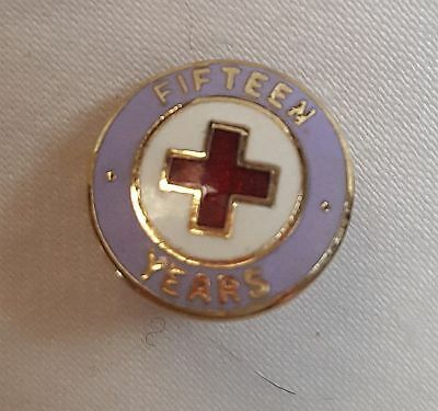American Red Cross Pin Fifteen Years Service Lapel Vest Pin