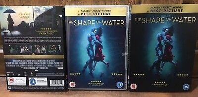 The SHAPE OF WATER DVD with 2 x Slipcases - UK - Guillermo DelToro - 2018 Oscars