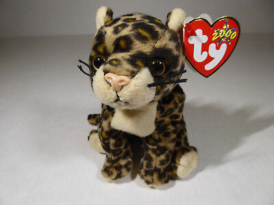 30f52c8d498 TY Beanie Babies Sneaky Leopard Cat (2000) Plush Toy w  All tags Excellent