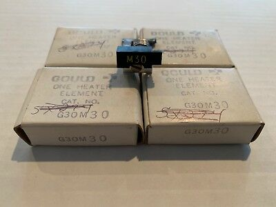 Lot Of 4 New! Gould Overload Relay Thermal Heater Elements G30M30