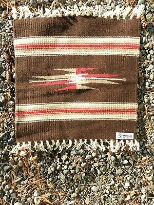Ortegas Weaving,chimayo,new Mexico, ,wool Display Blanket.15,in.x.15 In,perfect
