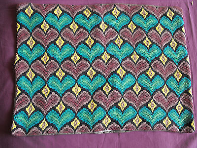 #1010  Beautiful Vintage  Embroidered Tapestry   56cm/42cm(22''x16.5'')