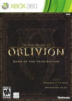 The Elder Scrolls IV Oblivion Game of the Year! Skyrim! 360 Xbox One! New Sealed