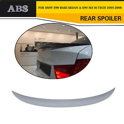 Unpainted P Style Rear Spoiler Wing Lip Fit for BMW 3 Series E90 Saloon 05-08