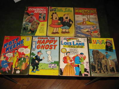 Lot of 7 Vintage Comic Books Silver and Golden Age Katy Keene, Homer, Lois Lane