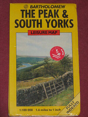 The Peak and South Yorks Leisure Map by Bartholomews