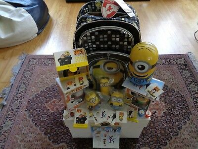 Despicable Me 2 & 3 PROMO 20+item LOT: Backpack,figures,games,puzzles,magnets +!