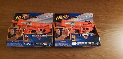 Hasbro Nerf N-Strike SnapFire Blaster Toy Dart Gun Lot of 2 Super Fun ***New***