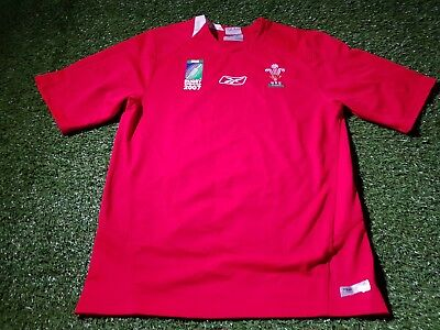 wales welsh cymru rugby union extra large mans world cup 2007 reebok home jersey