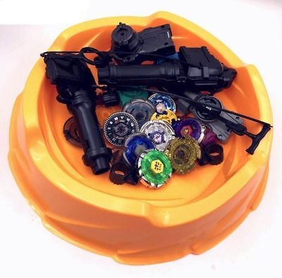 8 pcs Beyblade 4D metal fusion with Stadium arena and launchers set BEYSTATION